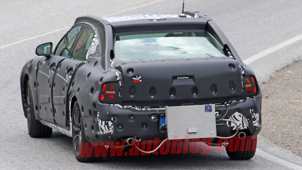 volvo rear tail s90 diesel disguise spied