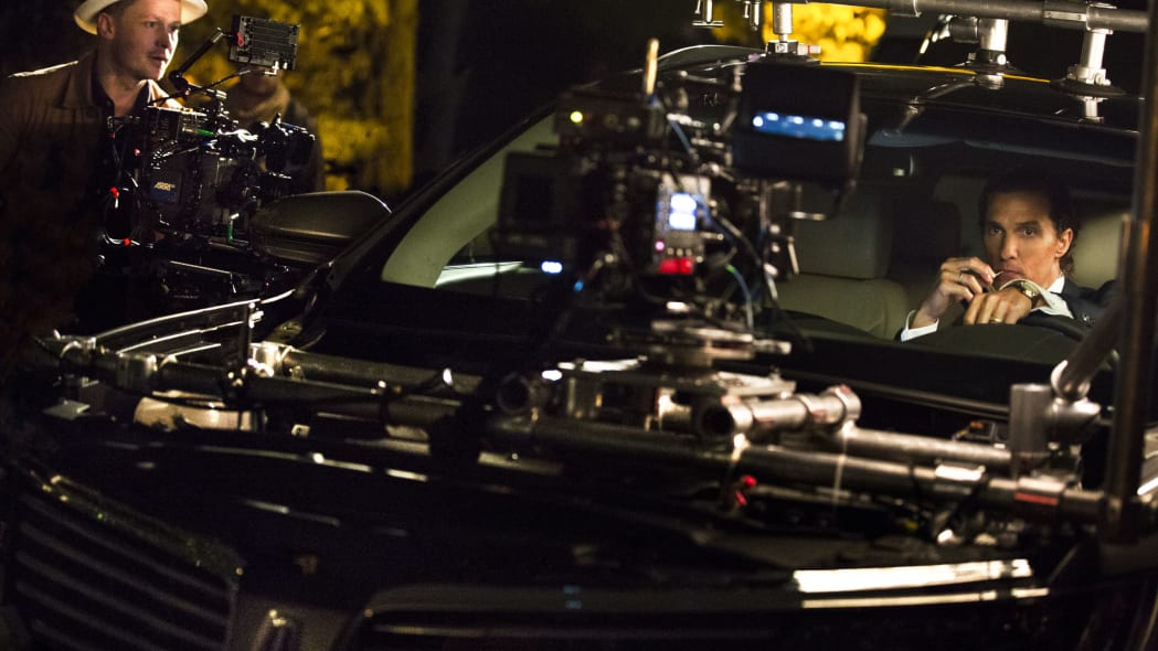 mcconaughey lincoln mkx ad filming