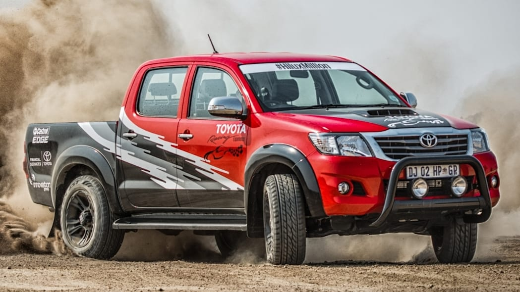 toyota hilux legend 45 with the rear out