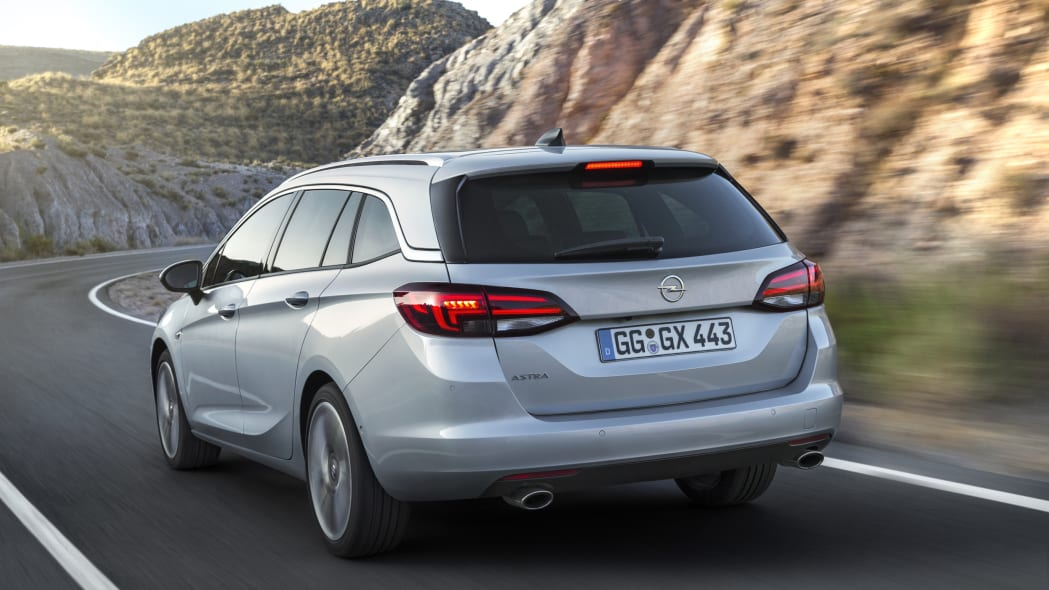2016 Opel Astra Sports Tourer estate rear 3/4 moving