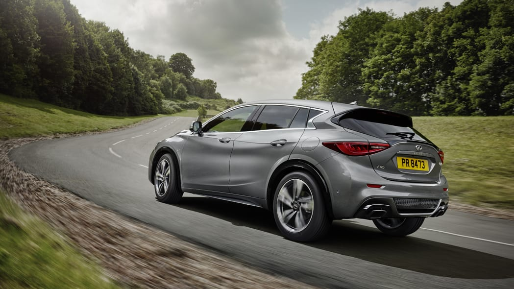 q30 rear gray corner infiniti frankfurt debut