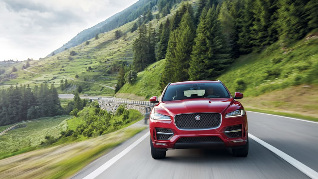 2017 jaguar f-pace front action profile