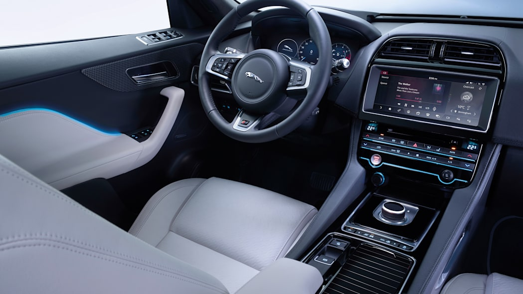 cabin interior left jaguar f-pace seat steering wheel