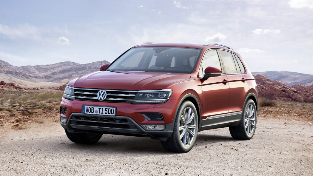 red vw tiguan front
