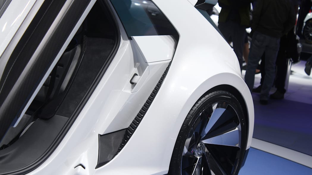 The Volkswagen Golf GTE Sport concept showed off at the 2015 Frankfurt Motor Show, side vents behind the doors.