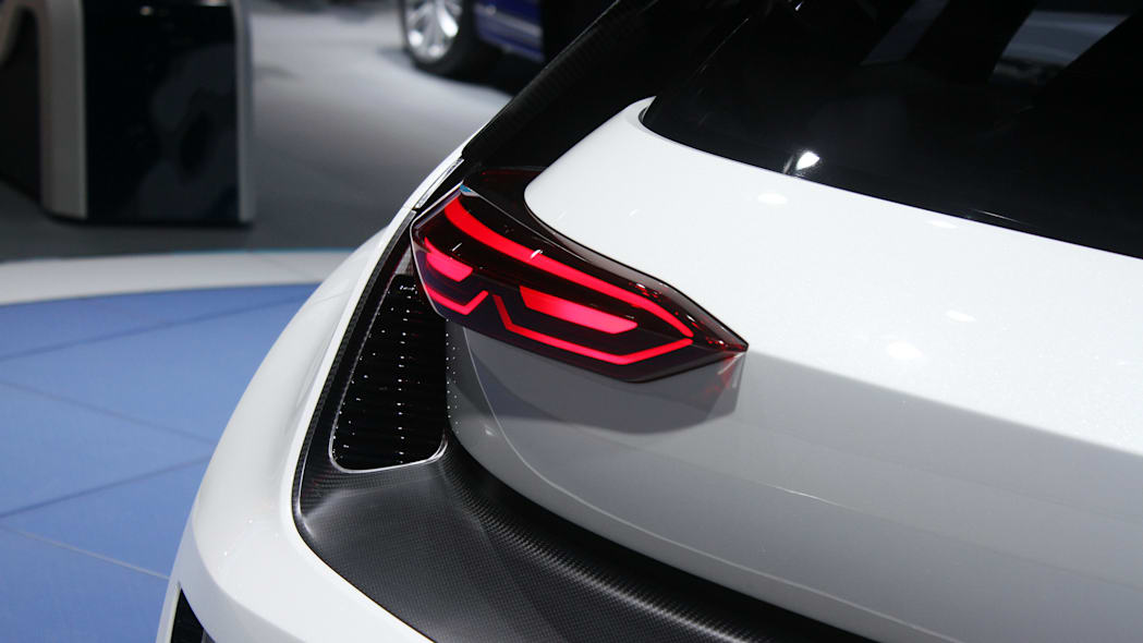 The Volkswagen Golf GTE Sport concept showed off at the 2015 Frankfurt Motor Show, vent details around the taillight.