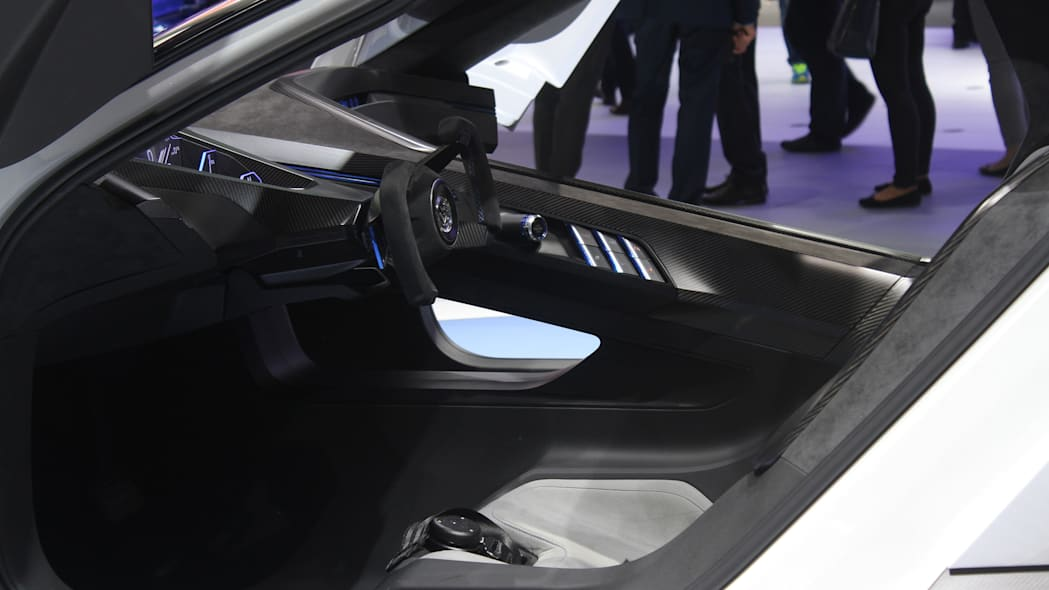 The Volkswagen Golf GTE Sport concept showed off at the 2015 Frankfurt Motor Show, another view of the driver's compartment.