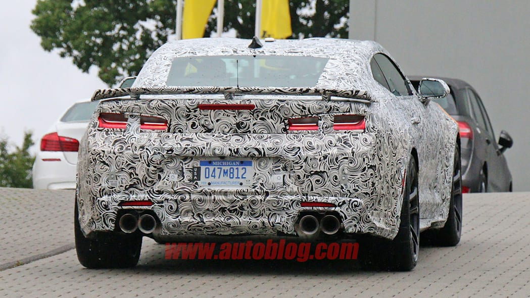 chevy camaro zl1 spy shot wing and rear