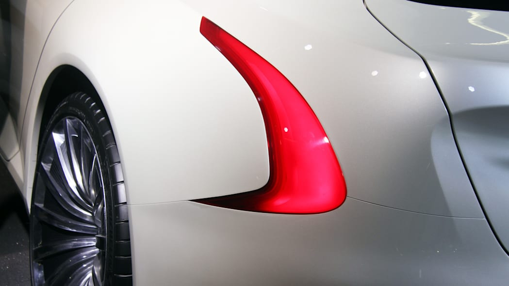 The Thunder Power electric sedan showed off for the first time at the 2015 Frankfurt Motor Show, taillight.