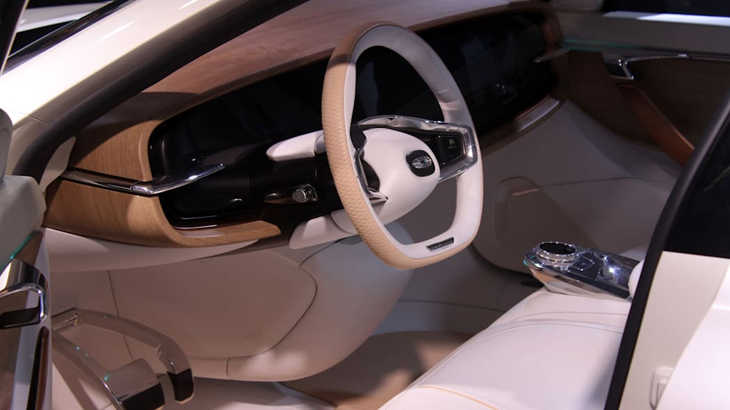 The Thunder Power electric sedan showed off for the first time at the 2015 Frankfurt Motor Show, interior wide.
