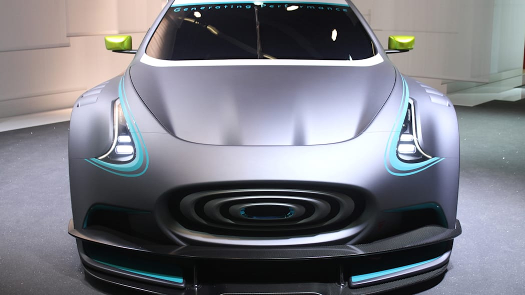 The electric Thunder Power Racer revealed at the 2015 Frankfurt Motor Show, front view.