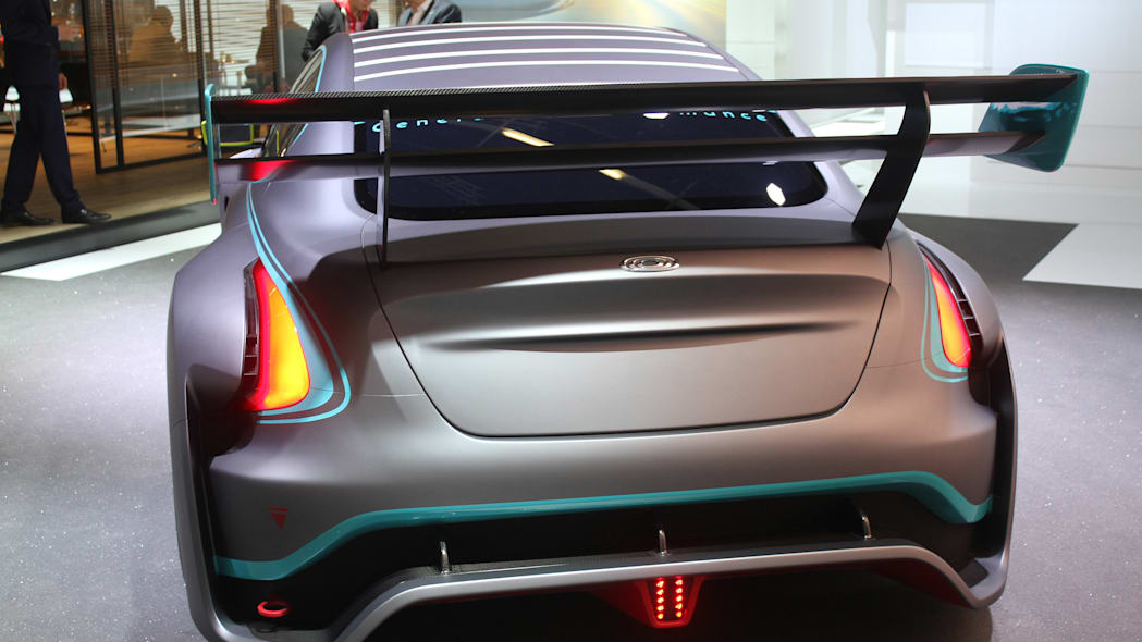 The electric Thunder Power Racer revealed at the 2015 Frankfurt Motor Show, rear view.