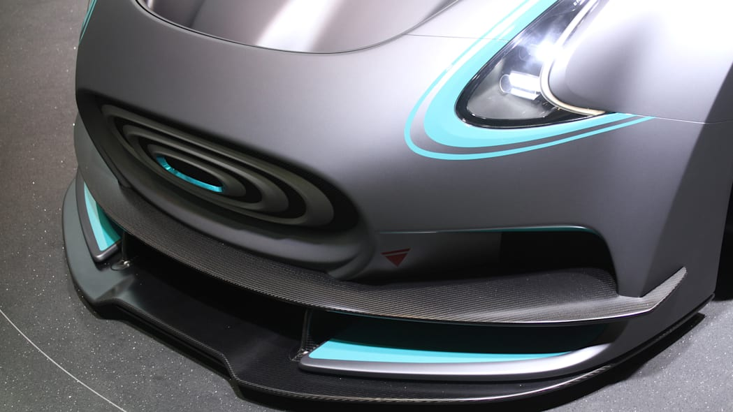 The electric Thunder Power Racer revealed at the 2015 Frankfurt Motor Show, detail of the front fascia.
