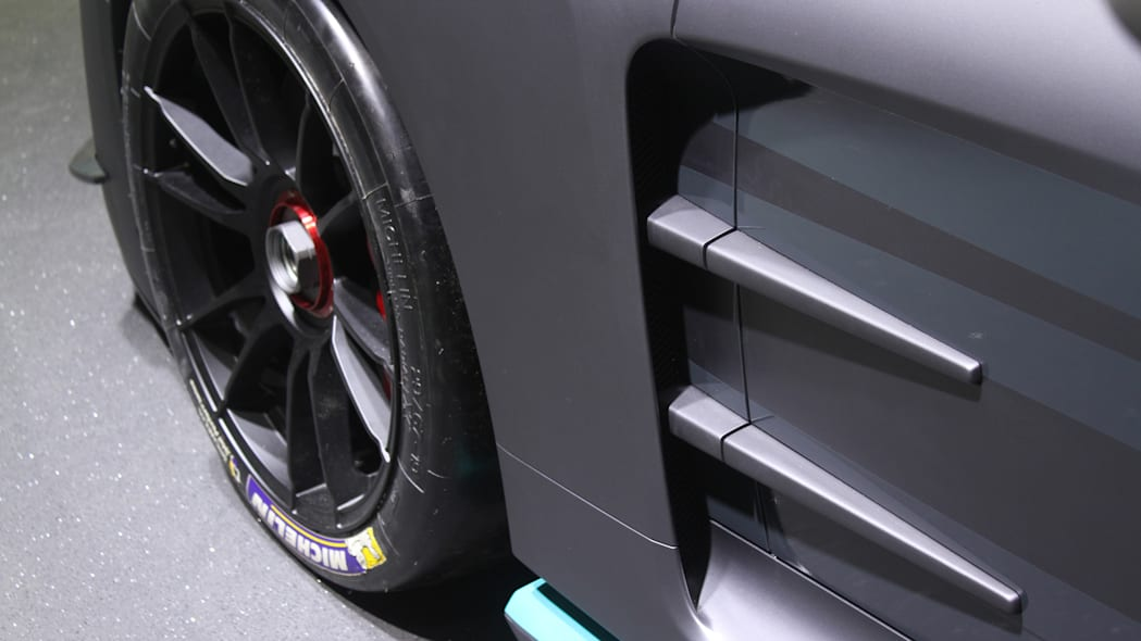 The electric Thunder Power Racer revealed at the 2015 Frankfurt Motor Show, side intakes.
