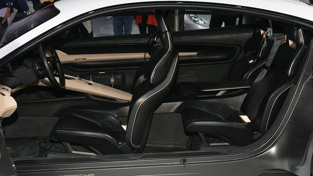 The Porsche Mission E concept, showed off at the 2015 Frankfurt Motor Show, closer view of the interior.