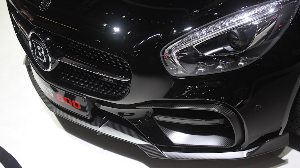 The Brabus 600, a tuned Mercedes-AMG GT S, at the Frankfurt Motor Show, detail of the front fascia.