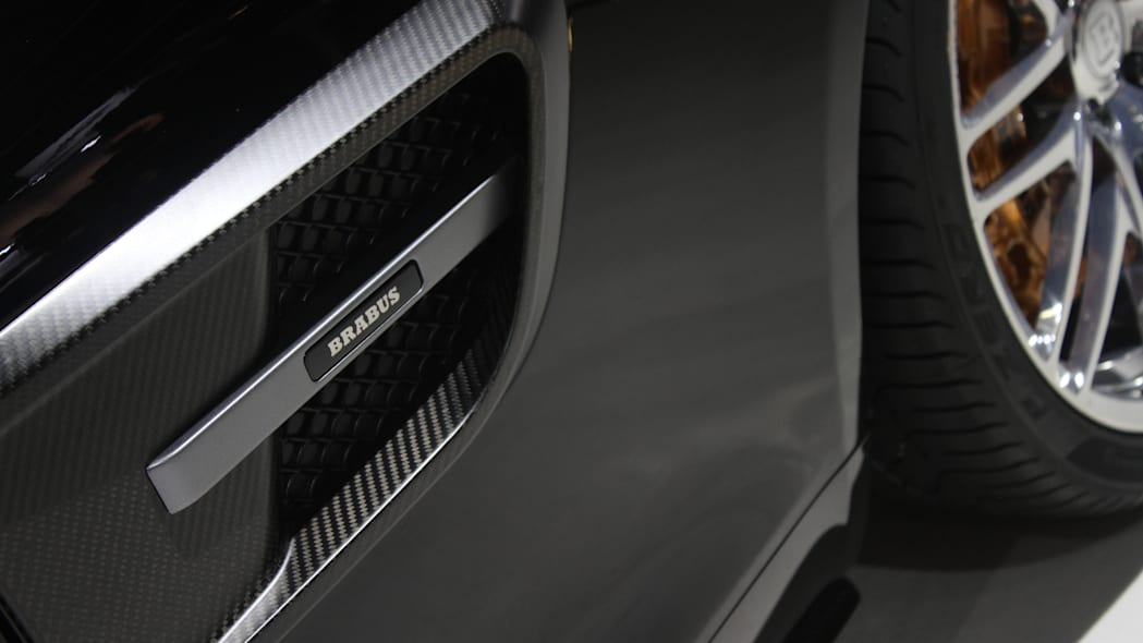 The Brabus 600, a tuned Mercedes-AMG GT S, at the Frankfurt Motor Show, Brabus logo on the side intake.