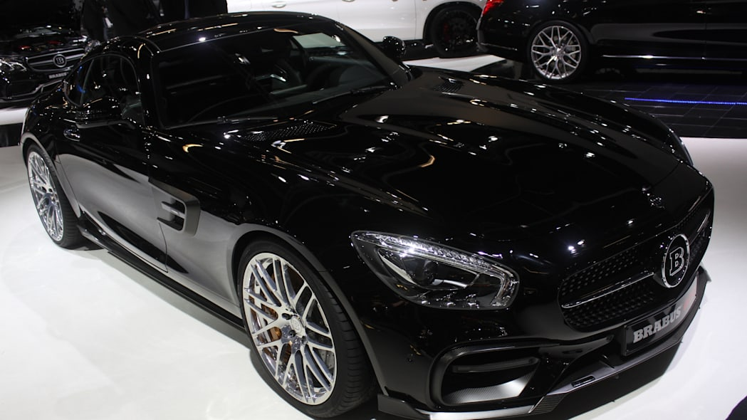 The Brabus 600, a tuned Mercedes-AMG GT S, at the Frankfurt Motor Show, front three-quarter view.