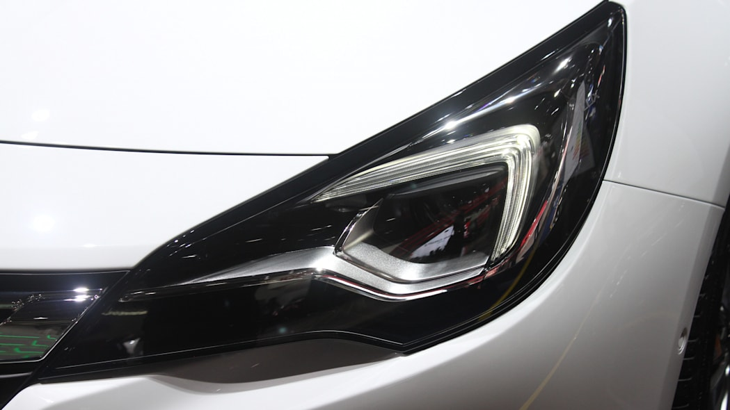 The new 2016 Opel Astra at the Frankfurt Motor Show, headlight.