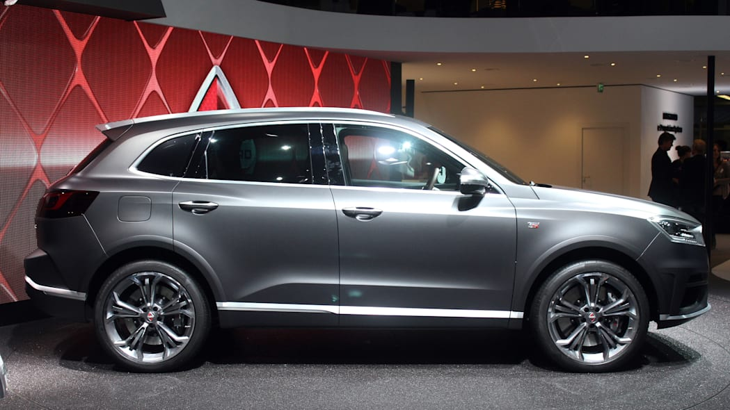 The Borgward BX7 TS, resurrecting the Borgward brand name after 50 years, unveiled at the 2015 Frankfurt Motor Show, side view.