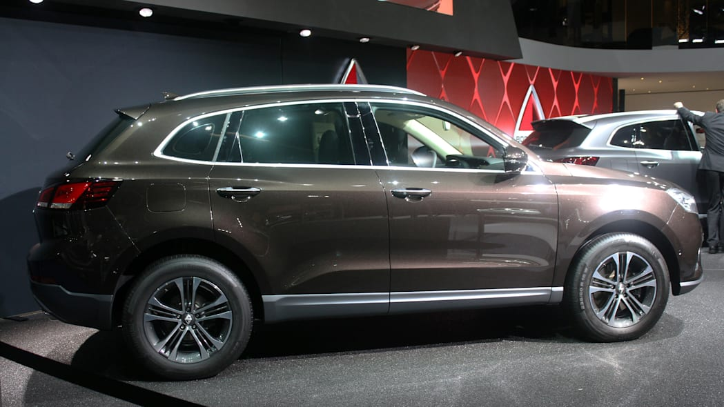 The Borgward BX7, resurrecting the Borgward brand name after 50 years, unveiled at the 2015 Frankfurt Motor Show, side view.