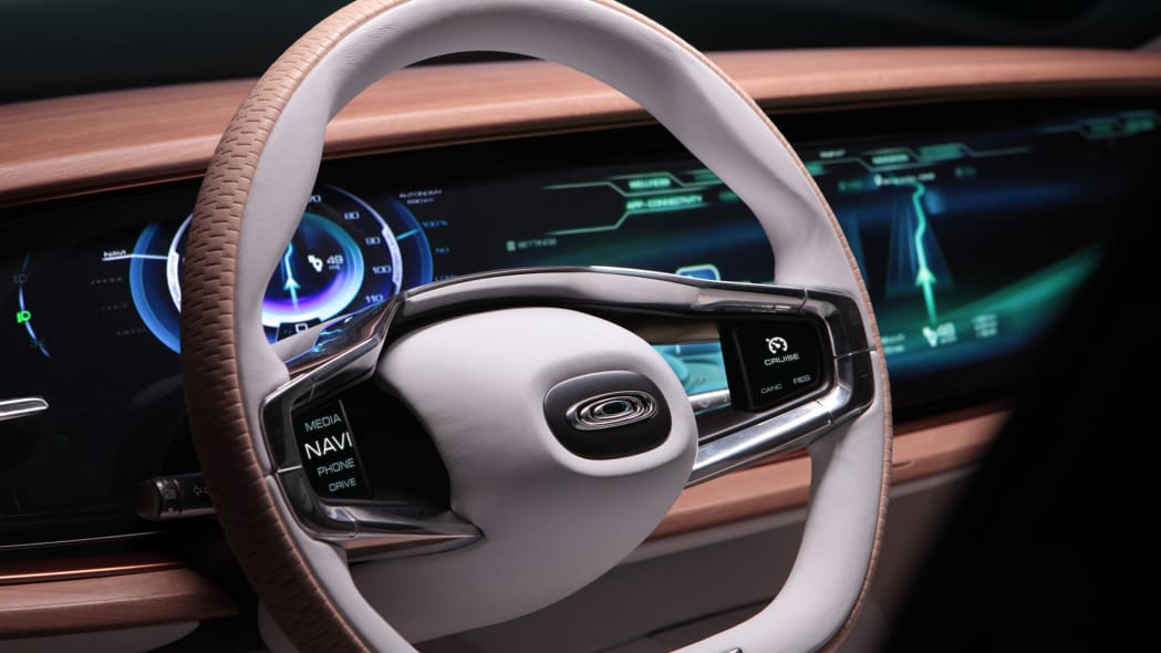 thunder power sedan steering wheel