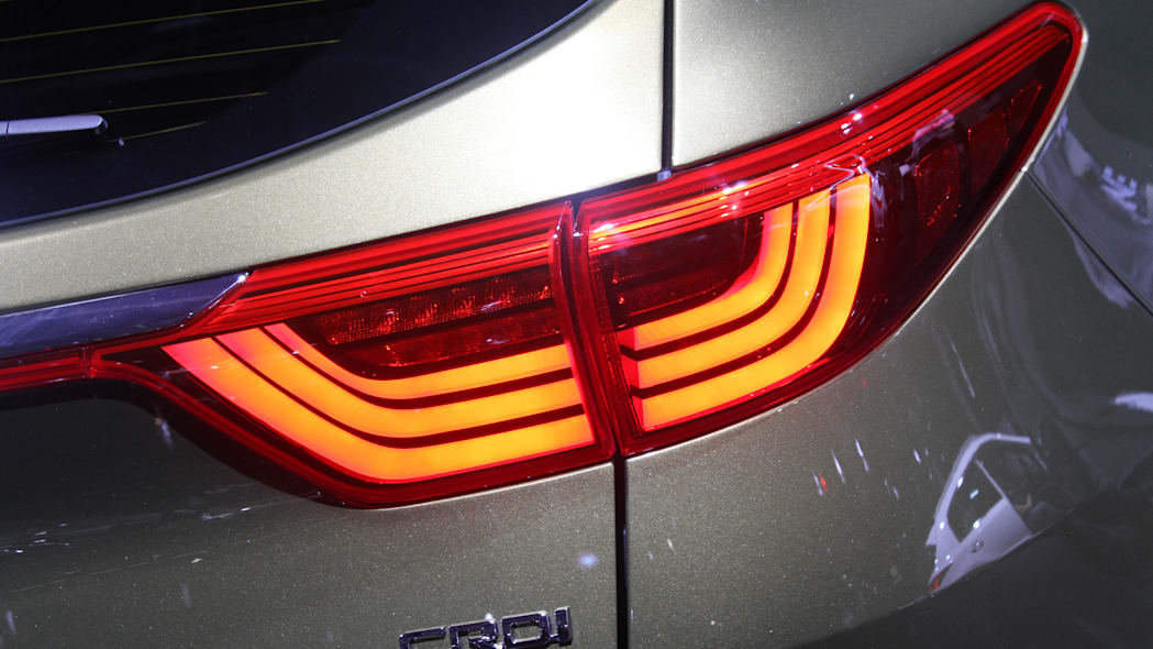 The 2016 Kia Sportage, revealed at the 2015 Frankfurt Motor Show, taillight detail.