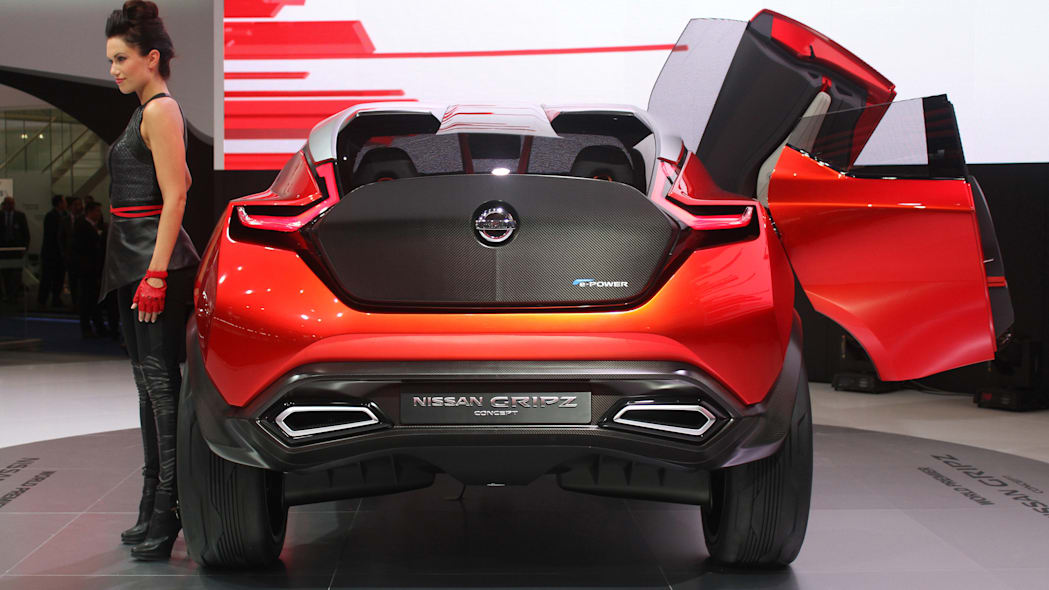 The Nissan Gripz concept unveiled at the 2015 Frankfurt Motor Show, rear view.