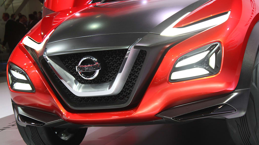 The Nissan Gripz concept unveiled at the 2015 Frankfurt Motor Show, front fascia view.
