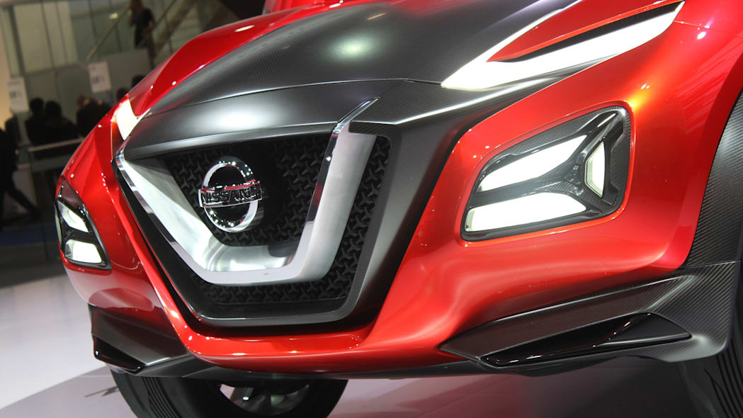 The Nissan Gripz concept unveiled at the 2015 Frankfurt Motor Show, front fascia detail.