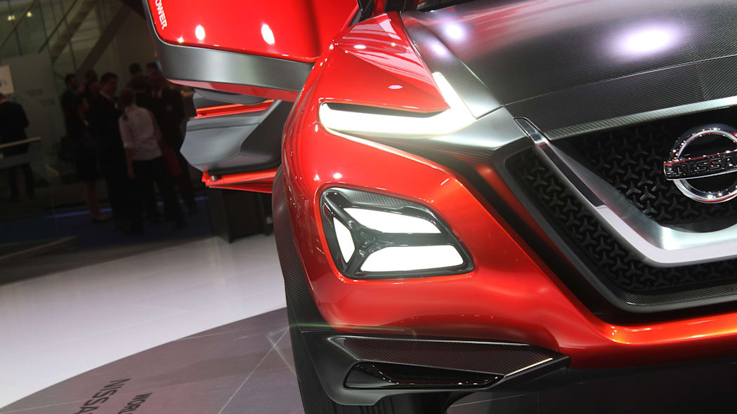The Nissan Gripz concept unveiled at the 2015 Frankfurt Motor Show, headlight detail.
