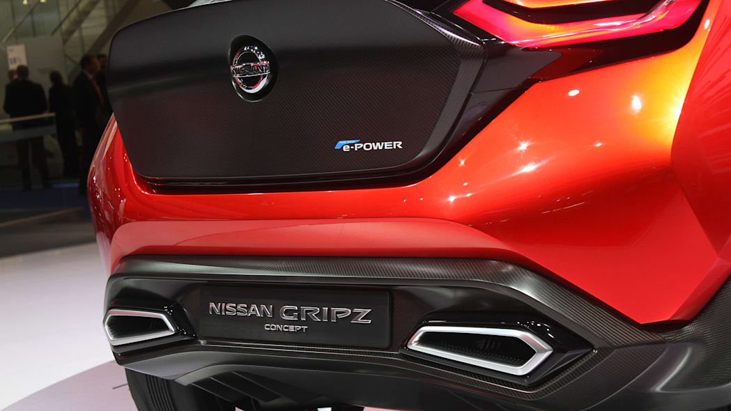 The Nissan Gripz concept unveiled at the 2015 Frankfurt Motor Show, close up of the rear.