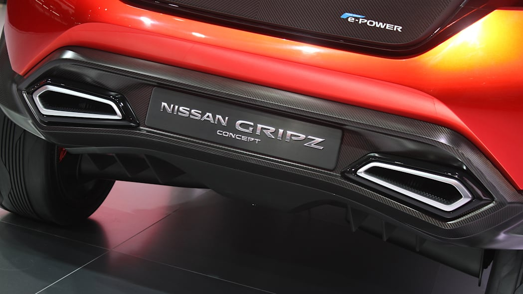 The Nissan Gripz concept unveiled at the 2015 Frankfurt Motor Show, rear diffuser detail.