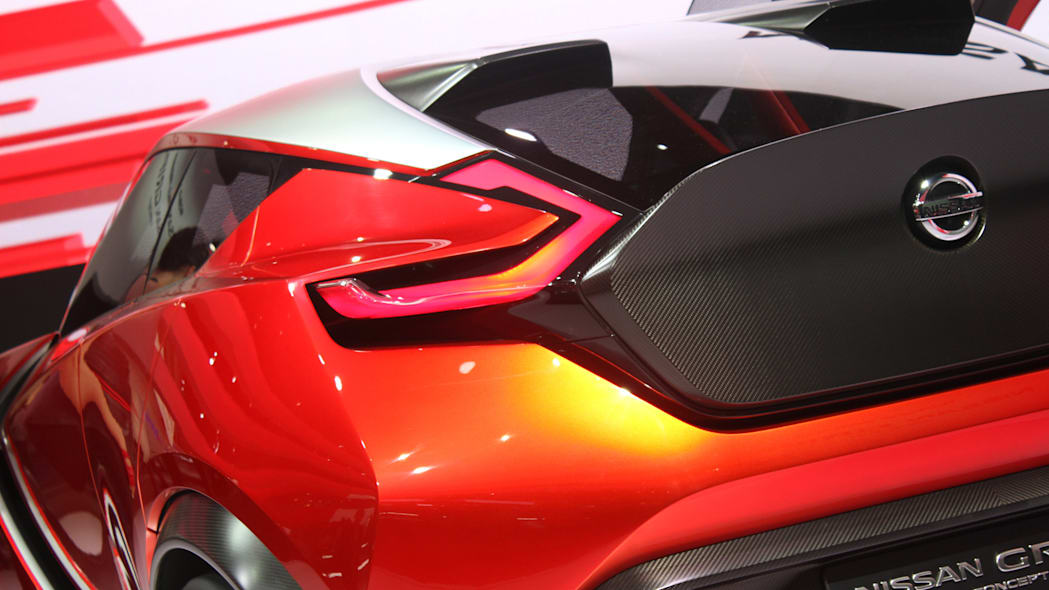 The Nissan Gripz concept unveiled at the 2015 Frankfurt Motor Show, taillight detail.