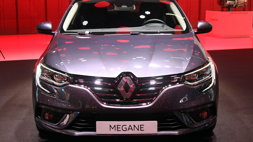 The 2016 Renault Megane, introduced at the 2015 Frankfurt Motor Show, front view.