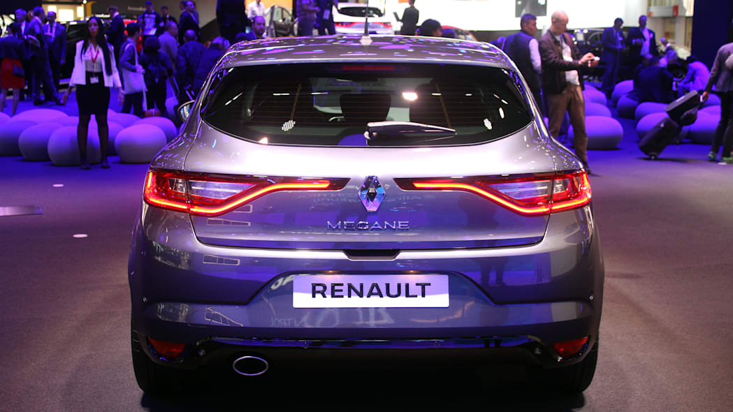 The 2016 Renault Megane, introduced at the 2015 Frankfurt Motor Show, rear view.