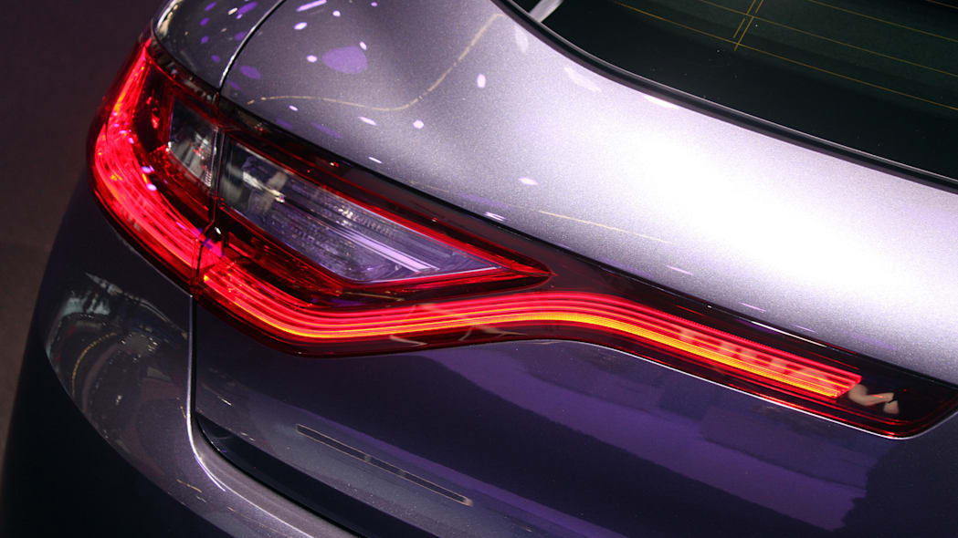 The 2016 Renault Megane, introduced at the 2015 Frankfurt Motor Show, taillight detail.