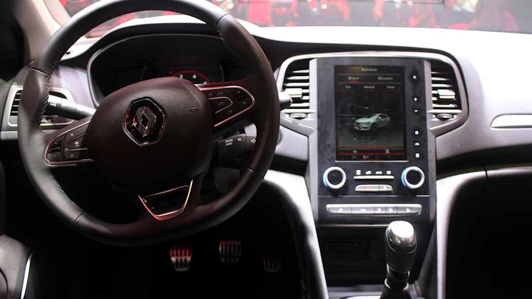 The 2016 Renault Megane, introduced at the 2015 Frankfurt Motor Show, instrument panel.