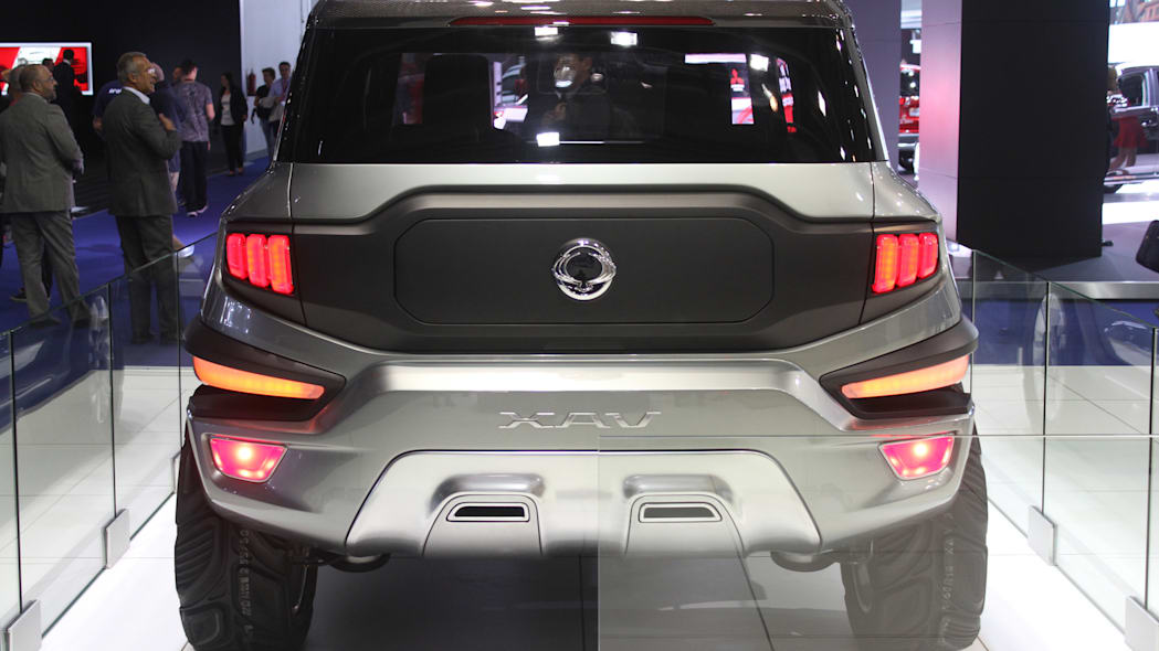Ssangyong XAV concept unveiled at the 2015 Frankfurt Motor Show, rear view.