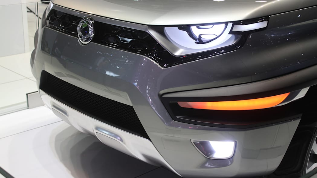 Ssangyong XAV concept unveiled at the 2015 Frankfurt Motor Show, front bumper detail.