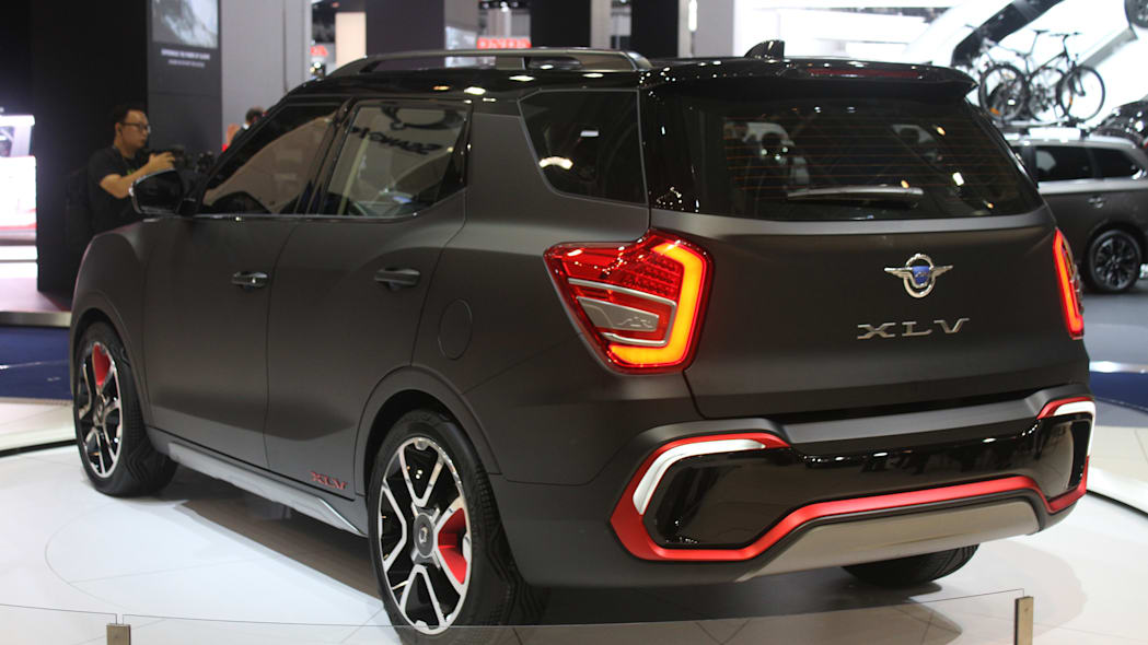 Ssangyong XLV Air concept unveiled at the 2015 Frankfurt Motor Show, rear three-quarter.