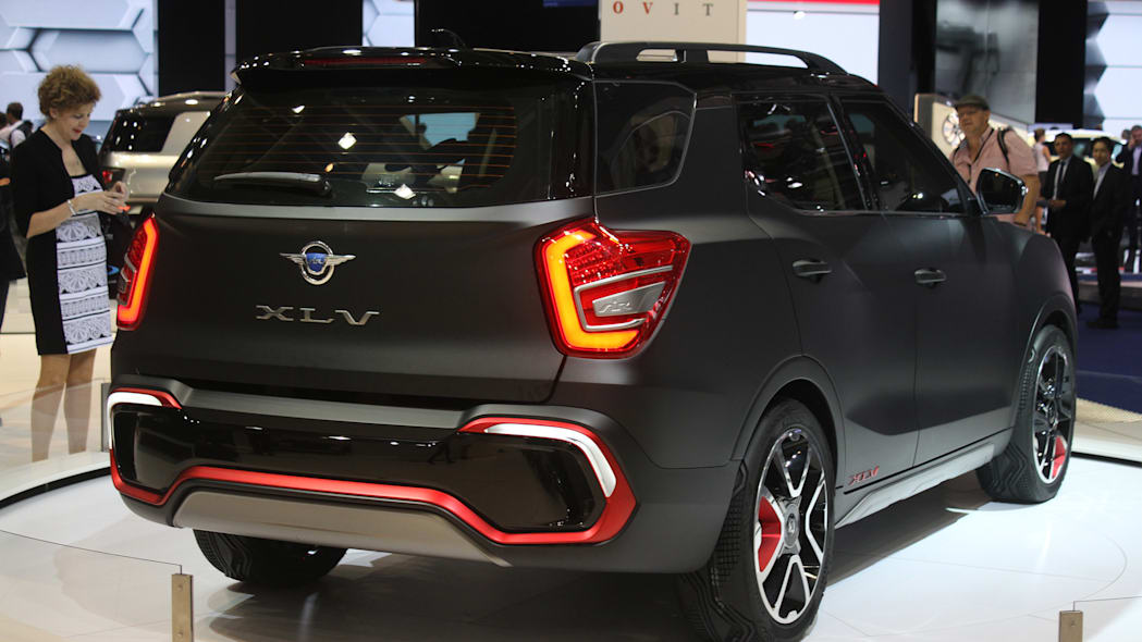 Sangyong XLV Air concept unveiled at the 2015 Frankfurt Motor Show, rear three-quarter view.