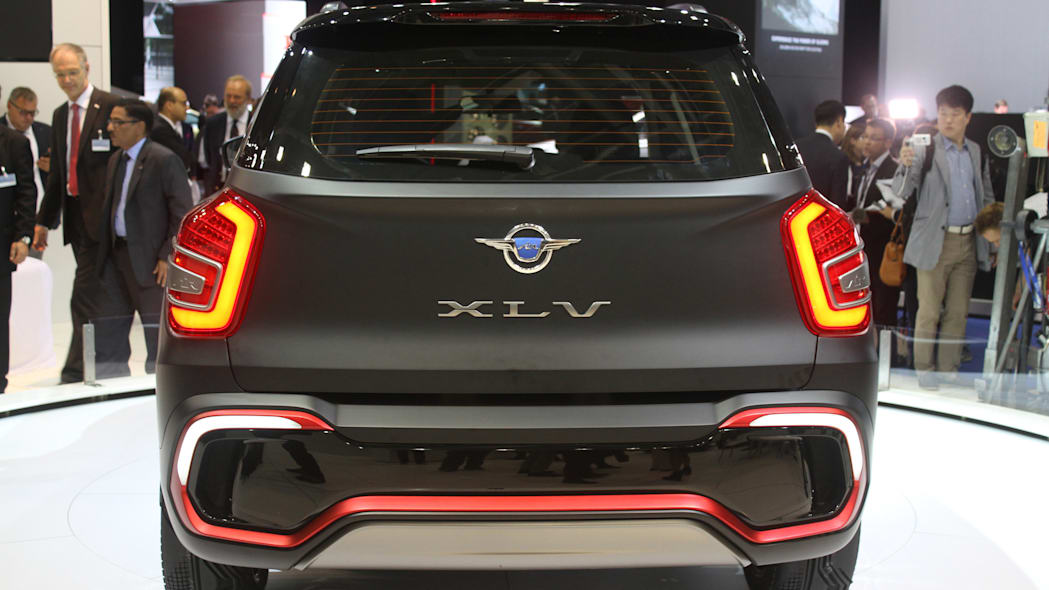 Ssangyong XLV Air concept unveiled at the 2015 Frankfurt Motor Show, rear view.