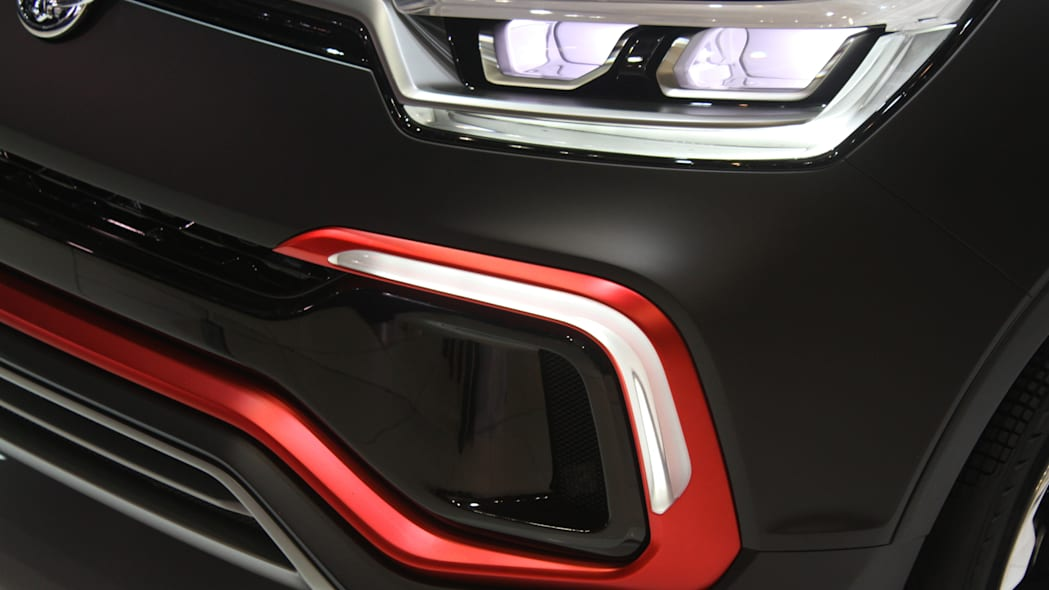 Ssangyong XLV Air concept unveiled at the 2015 Frankfurt Motor Show, detail of the lower intake.