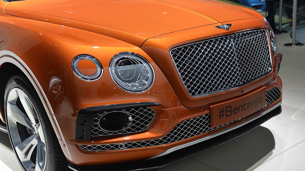 The Bentley Bentayga, unveiled at the 2015 Frankfurt Motor Show, front fascia.