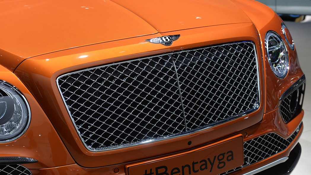 The Bentley Bentayga, unveiled at the 2015 Frankfurt Motor Show, grille detail.