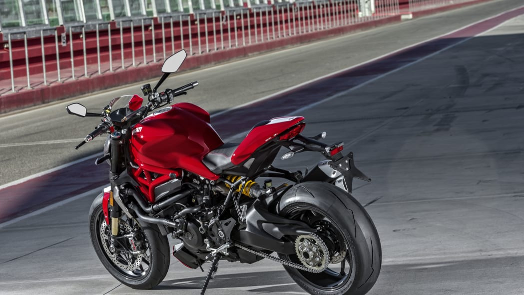 red ducati monster 1200 r on track