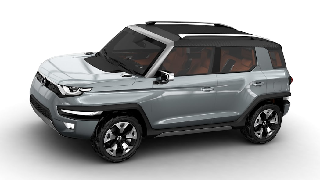 silver ssangyong xav-adventure concept side three quarters
