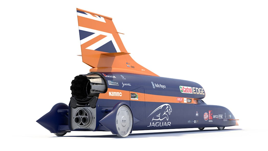 Bloodhound SSC rendering rear right angle