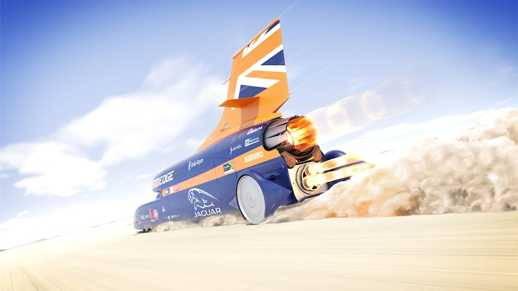 Bloodhound SSC rendering moving rear